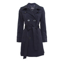 Twist Navy Suredelle Mac Trench Coat