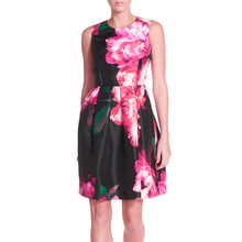 Donna Ricco Floral Shantung Fit & Flare Dress