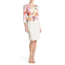 Donna Ricco Lace Bodice Sheath Dress