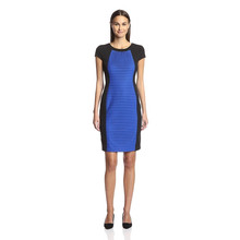 London Times Colorblock Sheath Dress