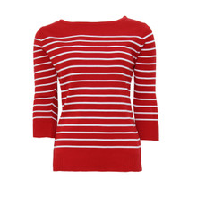 Twist Red Gaulter Stripe Knit