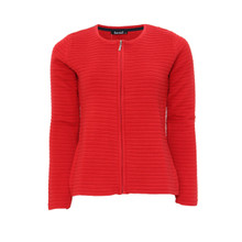 Twist Red Zip Up Knit