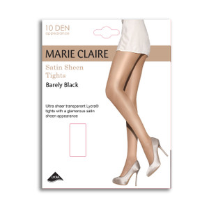 Marie Claire Satin Sheen Barely Black