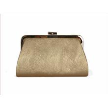 Jaclin Gold Clutch Bag