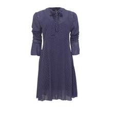 IOS Navy Fine Spot Dress