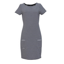 Twist Navy & White Stripe Dress