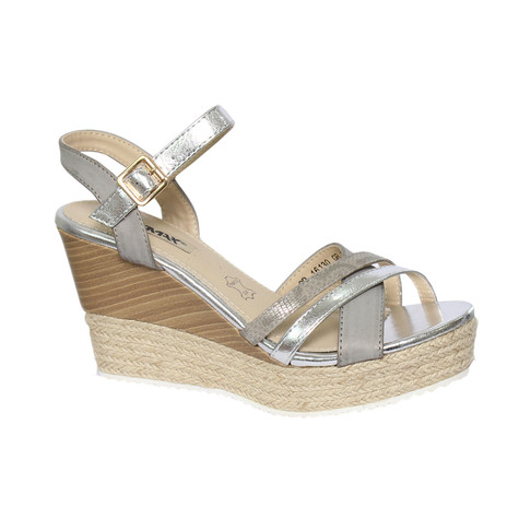 49fb6fcae01 Raxmax Silver Espadrille Wedge Sandals