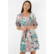 Closet PINK BLOSSOM CROSS OVER FLORAL KIMONO DRESS