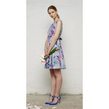 Closet PORTOBELLO PURPLE FLORAL TIE BACK DRESS