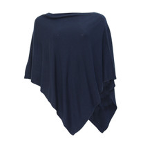 Twist Soft Touch Navy Poncho