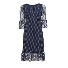 Zapara Navy Spot Lace Dress