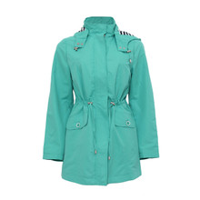 Inter Light Green Hooded Coat