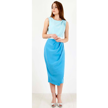 Closet Blue & Aqua Tonal Dress