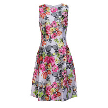 Zapara Fushia Floral Latern Dress