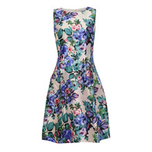 Zapara Blue Floral Latern Dress