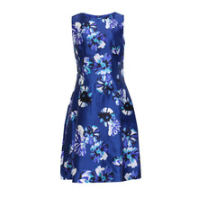 Zapara Royal Blue Fit N Flare Dress