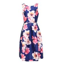 Zapara Navy Floral Print Dress