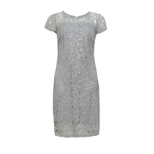 Scarlett Silver Lace Dress