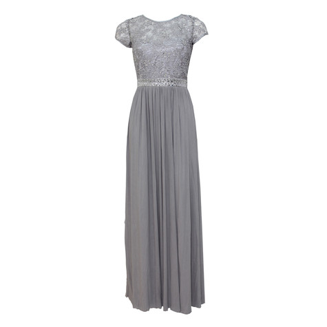Max And Lola Silver Long Detail Dress