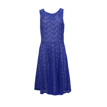 Zapara Blue Lace Skater Dress