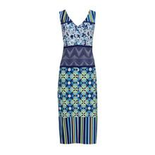 Sangria Blue Print Scuba Dress