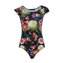 Jusdepom Yellow Floral Print Bodysuit