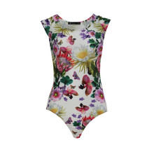 Jusdepom Off White Floral Print Bodysuit