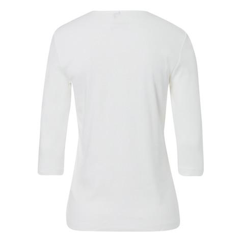 Olsen COTTON TOP EMBELLISHED - OFF WHITE