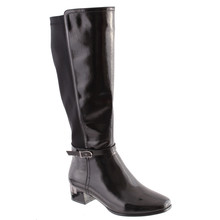 Susst Black Patent Long Boots