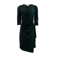 Zapara V-Neck Wrap Dress With Buckle Detail