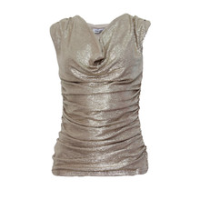 Zapara Gold Wrap Sparkle Top