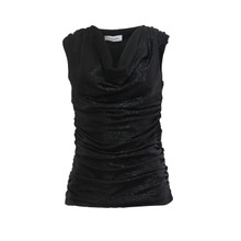 Zapara Black Wrap Sparkle Top