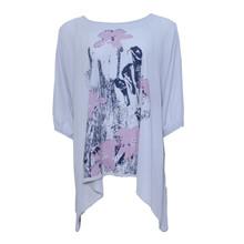 Twist Grey Floral Print Top