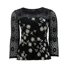SophieB Black Lace Sleeve Top