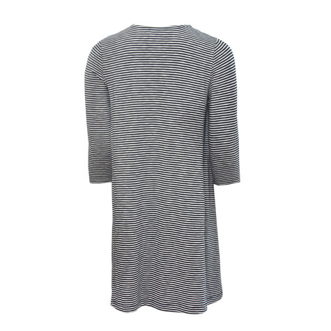 SophieB Indigo Stripe Round Neck Top