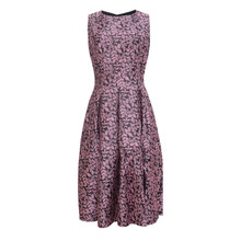 Zapara Pink Brocade Sleeveless Dress