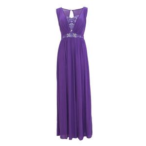 Max And Lola Purple V-Neck Bead Detail Dress