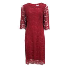Zapara Bordeaux Lace Dress