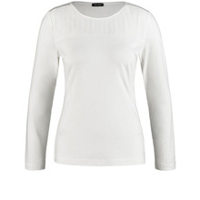 Gerry Weber LONG SLEEVE TOP WITH PLEATED DETAILS