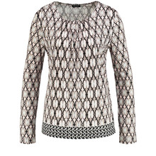 Gerry Weber LONG SLEEVE TOP WITH A GEOMETRIC PRINT