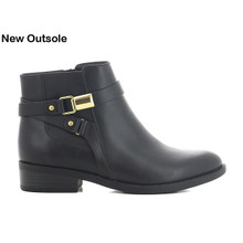 CORTINA Black Flat Chelsea Ankle Boot