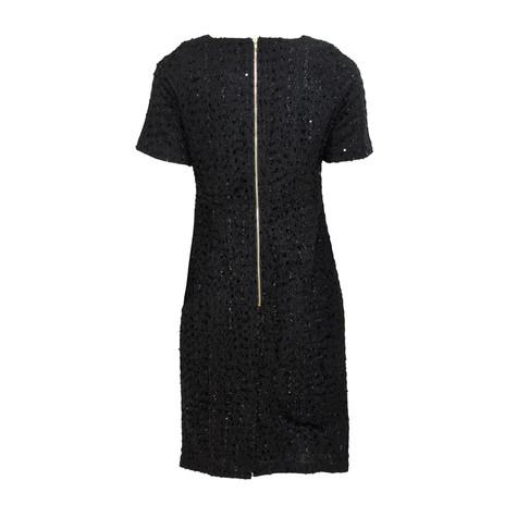 Zapara Black Glitter Exposed Zip Dress