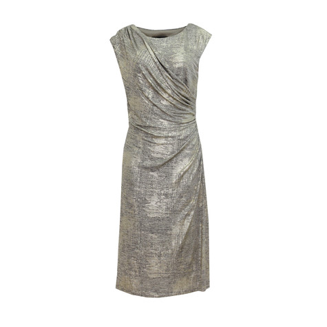 Connected Gold Shimmer Dress