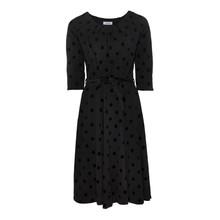 Zapara Black Spot Pattern Dress