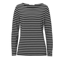 Betty Barclay Black White Stripe Round Neck Top