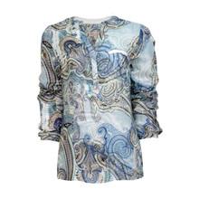 Tinta Style Blue Paisley Print Blouse