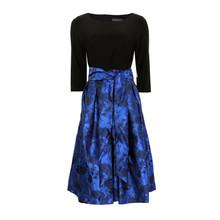 Jessica Howard Black & Royal Mesh Dress