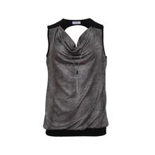 Zapara Black & Silver Sleeveless Top