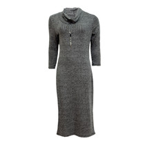 Twist Grey Easy Rib Comfy Dress
