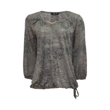 SophieB Taupe Gold Chain Detail Top